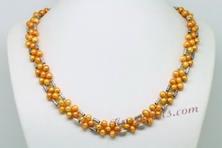 Pnset603 Latest Designer Hand Knitted Cultured Pearl Necklace Jewelry set