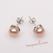 Pnset638 Beautiful Cultured Bread Pearl Sterling Silver  Earrings
