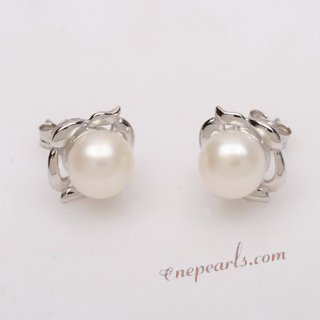 Pnset639 Sterling Silver Cultured Freshwater Pearl Earrings