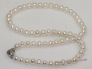 Pnset728 Freshwater potato pearl necklace,bracelet&earrings  jewelry set