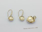 Pnset739 Enticing Sterling Silver Freshwater Bread Pearl Pendant and Earrings Set