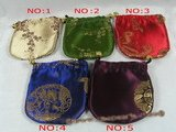 pouch001 20pcs Mixed colors silk brede jewelry pouches wholesale