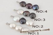 pp011 triple pieces 12-13mm white coin pearl pendant