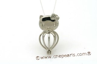 ppm003 Ten Pieces Silver toned turtle design wish pearl cage pendant
