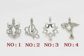 ppm005 ten pieces silver plated copper pearl pendant&cages for wish pearl