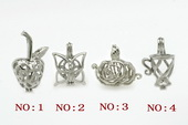 ppm006 ten pieces silver plated copper pearl pendant&cages for oyster  pearl