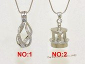 ppm032 Ten pieces Silver plated copper wish pearl pendant&cages