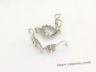 ppm034 ten pieces silver plated copper pearl pendant&cages for wish pearl