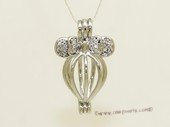 ppm043 Ten pieces Silver Toned Copper Wish Pearl Cage Pendant