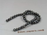 pps015  8-9mm black potato shape pearls strand wholesale