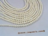 pps025 Five strands 5.5-6.5mm shiny small potato freshwater pearl strand