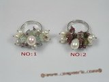 pr013 sterling 4-5mm white potato pearl adjustable rings