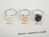 pr020 wholesale sterling cluster flower potato seed pearl rings in low price