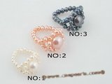 pr029 Perfect handcraft single row freshwater seed pearl Stretch rings