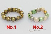 Pr041 Designer Single Row Multicolor Bread Pearl Stretchy Ring