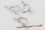 psnc012 Silver plated copper heart shape necklace clasp