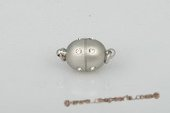 psnc020 9*16mm Silver toned Oval Magnetic Clever Clasp