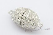 Psnc031 Silver Toned Large 15*30mm Oval Shape Clever Magnetic Clasp