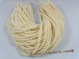 rounds04 White 5.5-6mm round freshwater pearl strands in wholesale