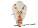rpn091 20inch multi-color bilster pearl rope necklace wholesale