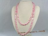 rpn125 8-9mm pink nugget cultured pearl Opera neckace