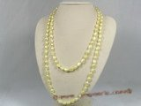 rpn126 8-9mm yellow nugget pearl Opera neckace wholesale