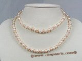 rpn131 6-7mm AAA Grade round pearl rope necklace in natural color onsale