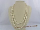 rpn134 48inch long opera necklace jewelry with white cultured pearl