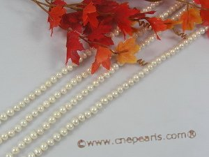 rpn137 7-8mm white button cultured pearl rope necklace in wholesale