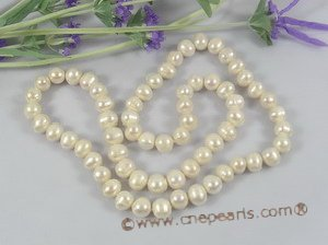 rpn138 11-12mm white off round(potato) pearl luxury opera necklace