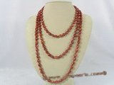rpn142 wine red nugget cultured pearl rope necklace in discount prices