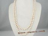 rpn155 8-9mm white freshwater potato pearl opera necklace in wholesale price