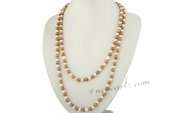 rpn192 Stylish hand knotted white& champagne potato pearl rope neckace