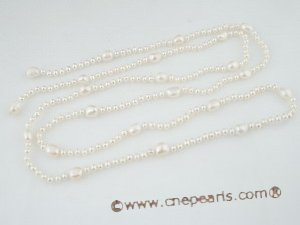 rpn263 Elegant Baroque Cultured Fresh Water Pearls rope costume necklace