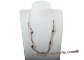 rpn304 Colorful freshwater pearl casual Opera necklace