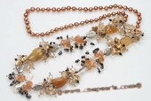 Rpn354 freshwater pearl necklace mixing with 