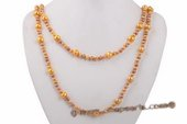 Rpn376 Designer Cultured Freshwater Potato Pearl Rope Necklace
