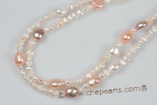 Rpn379 Gradual Size Freshwater Nugget Potato Pearl Rope Necklace for Summer day