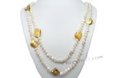 Rpn390 Fantastic Cultured Nugget Pearl and Shell Party Rope Necklace