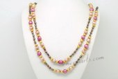 Rpn416 Designer Colorful Cultured Freshwater Pearl Rope Necklace