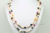 Rpn421 Colorful Freshwater pearl rope necklace in wholesale