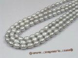 rs10 five strands 7-8mm grey rice shape pearl strands