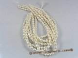 rs15 natured white 7.5-8.5mm rice shape cultured pearl beads strands