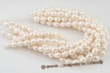 rs016 Natured white 12-14mm rice shape cultured pearl strands
