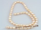 rs02 five strands 6-7mm nature pink rice- shape pearls