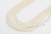 rseed009 A Grade 3-4mm white Small Off Round seed Pearls strands