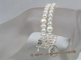 rybr013  Hand-wrapped potato cultured pearl rosary bracelet on sale