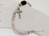 rybr030 wholesale 7-8mm purple potato  pearl rosary bracelet