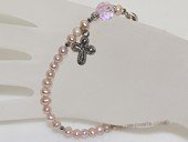 rybr031 wholesale 4-5mm purple potato pearl rosary bracelet