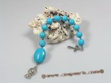 ryc005 Sacred 8mm turquoise One Decade Rosary pocket Chaplet